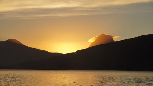 sunset norway summer