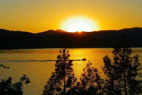sunset landscape scenic
