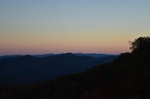 sunset mountains north carolina