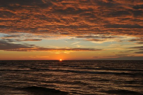 sunset the baltic sea evening