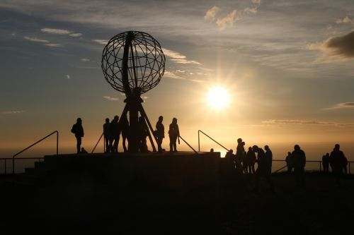 sunset people silhouettes