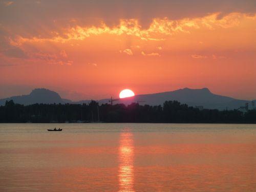 sunset mood lake constance