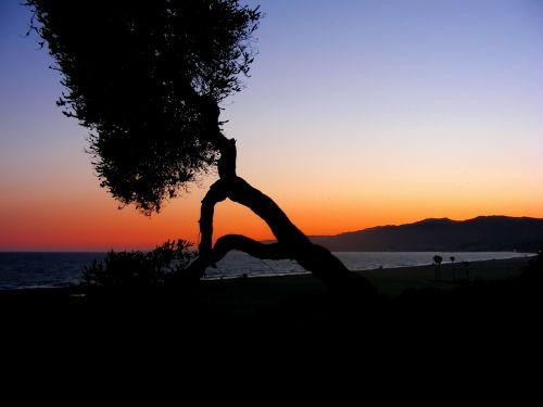 sunset sea pacific ocean