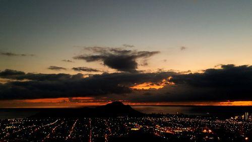 sunset hawaii oahu