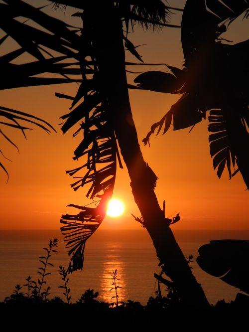 sunset canary islands la palma