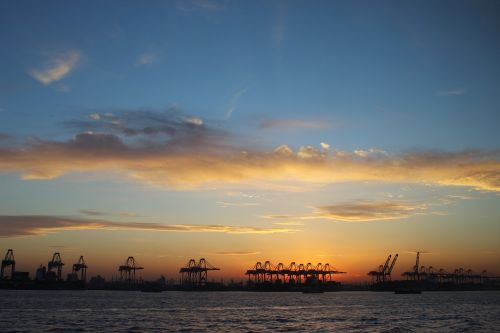 sunset offshore sky