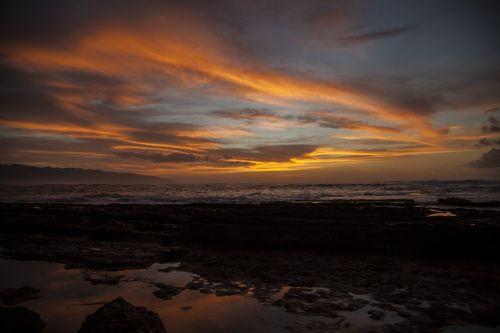 sunset oahu hawaii
