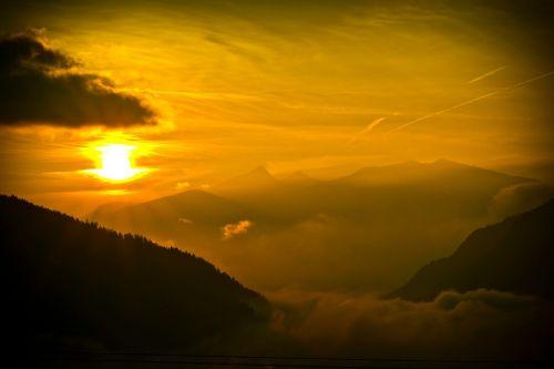 sunset golden abendstimmung