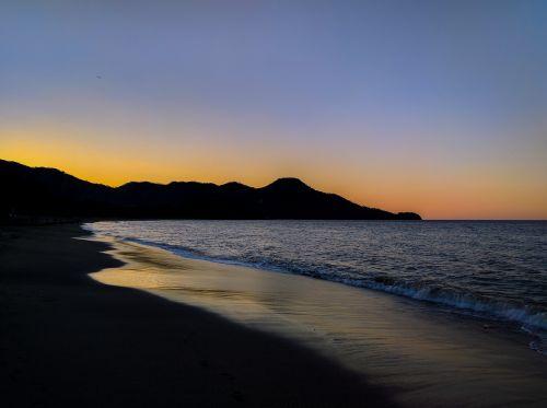 sunset ocean sea