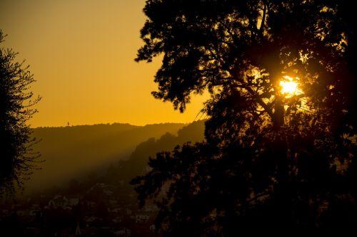sunset abendstimmung france