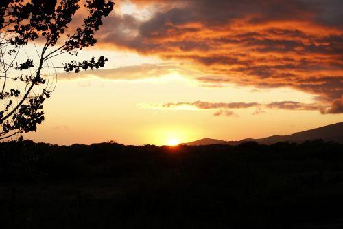 sunset romantic mood