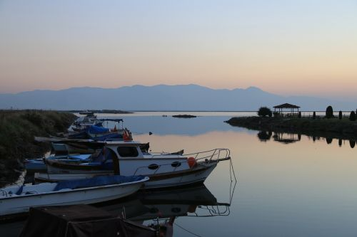 sunset marine in the evening