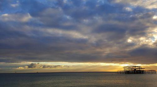 sunset brighton pier