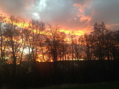sunset gothenburg himmel