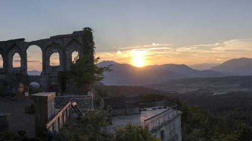 sunset evening abendstimmung