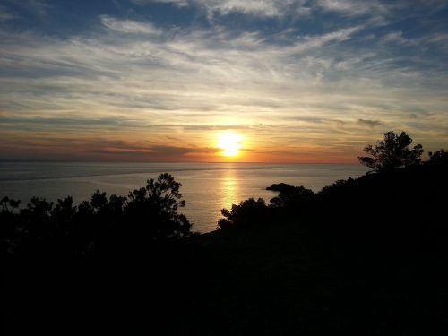 sunset ibiza evening sky
