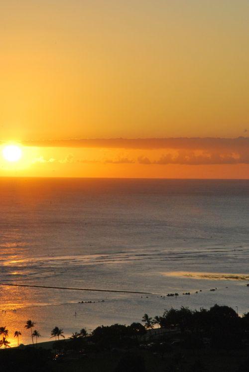 sunset beach calm
