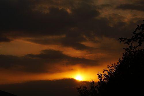 sunset clouds abendstimmung