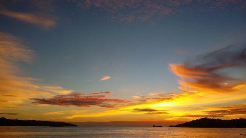 sunset kota kinabalu universiti malaysia sabah