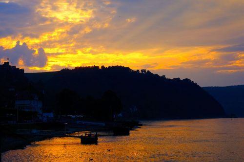 sunset evening clouds