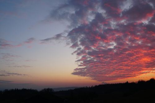 sunset afterglow twilight