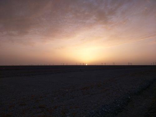 sunset horizon wilderness
