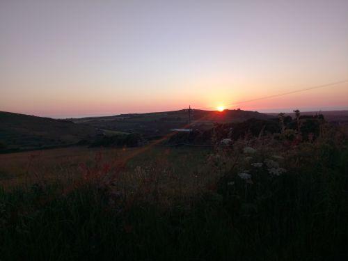 sunset cornwall redruth