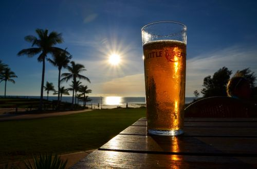 sunset sunlight beer