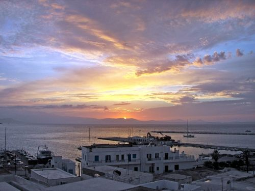 sunset naxos cyclades