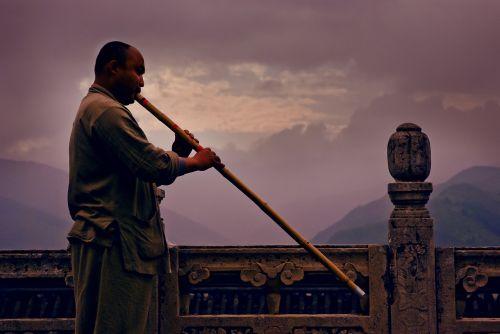 sunset xiao buddhist monk