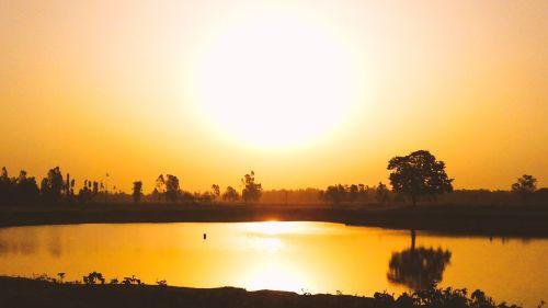 sunset golden hour golden
