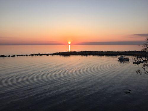 sunset sea diamond
