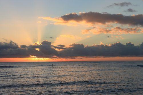 sunset kauai hawaii