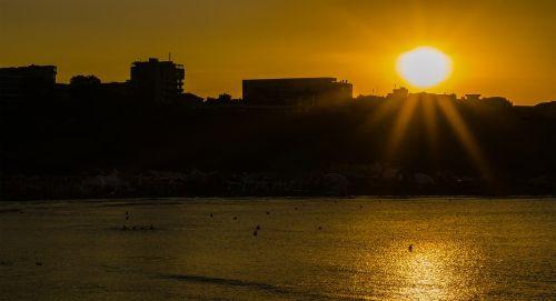 sunset sun shadow