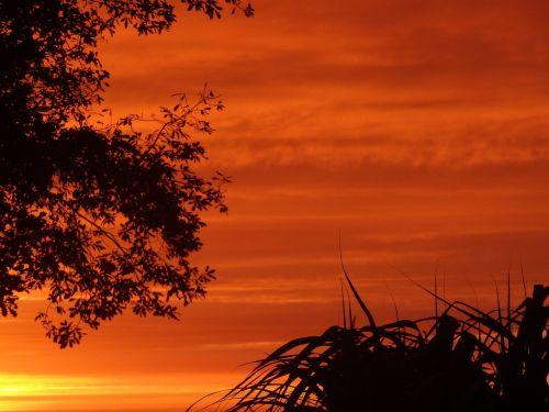 sunset sky abendstimmung