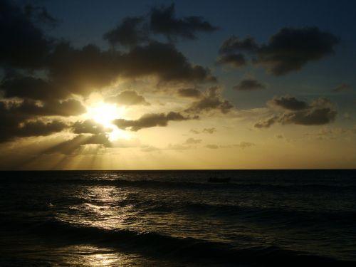 sunset puerto rico beach