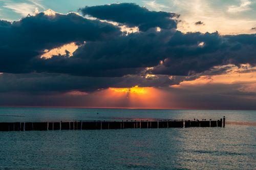 sunset sea sunset sea