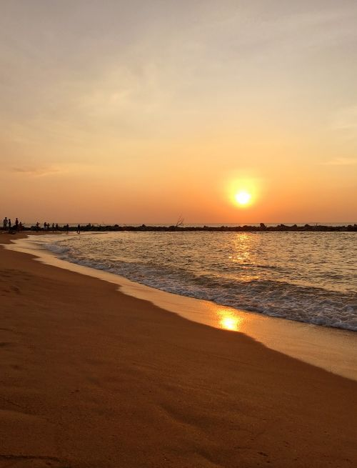 sunset sri lanka beach