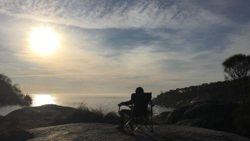 sunset tasmania camping