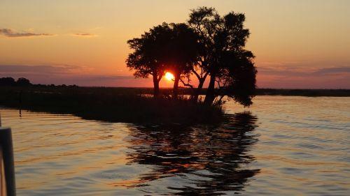 sunset chobe botswana