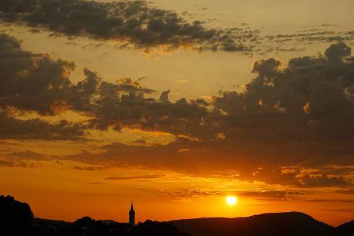 saulėlydis,abendstimmung,atmosfera