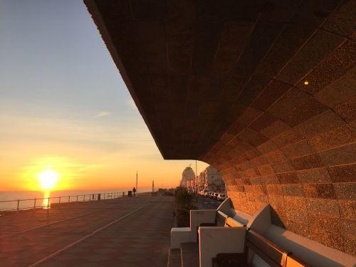 sunset hastings england