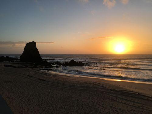 sunset portugal santa cruz