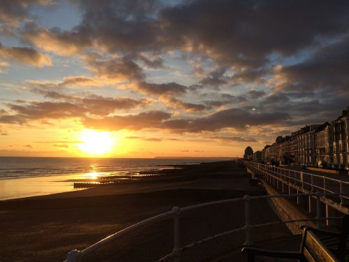 sunset coastline sussex