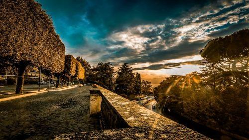 sunset frascati rome