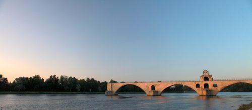 sunset broken bridge avignon bridge