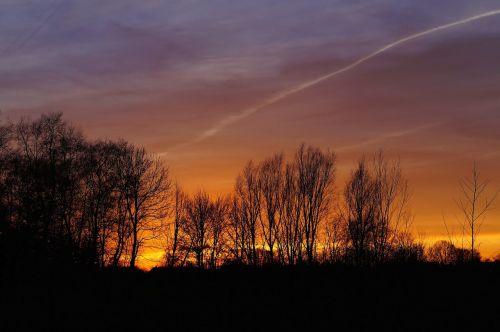 sunset orang yellow