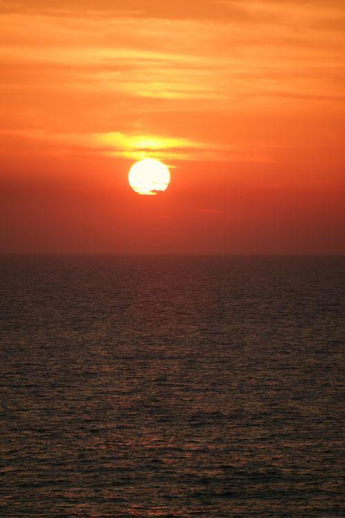 sunset sea abendstimmung