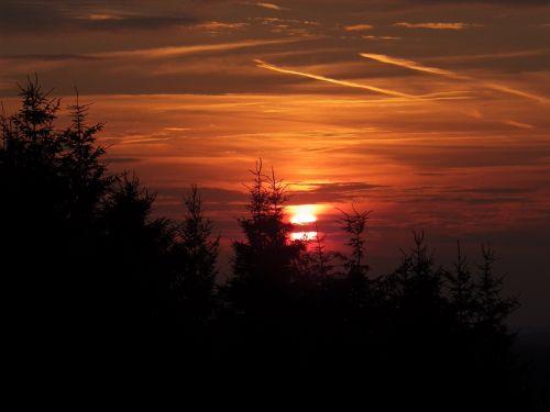 sunset mood afterglow