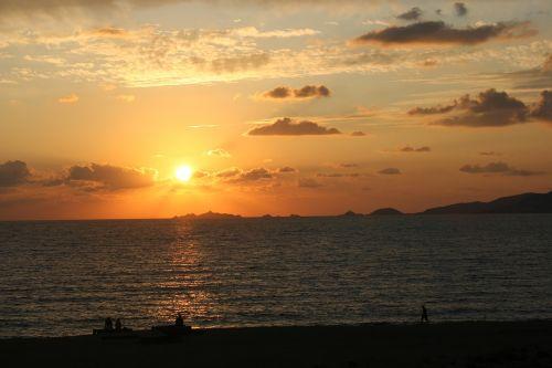 sunset sun corsican